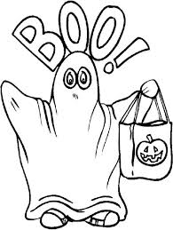 Small Picture Halloween Ghost Coloring Pictures Fun for Halloween