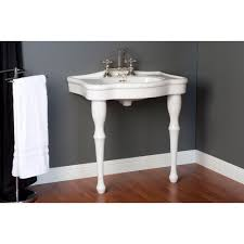strom plumbing console sink with legs 8 inch faucet drillings