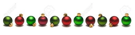 Christmas Ornaments Border Red And Green Christmas Ornaments Border On White Background