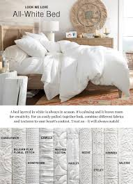 all white bedding  pottery barn