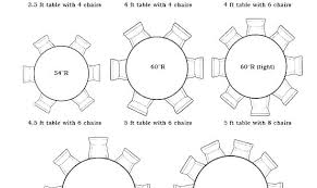 round dining table sizes cm