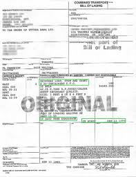 bill of loading bill of lading clauses
