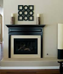 black and white gas wall fireplace
