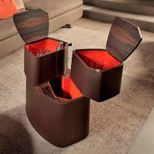 contemporary mini bar cabinet wooden leather home l by roberto lazzeroni