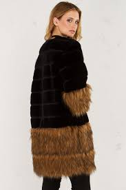 side view fur coat