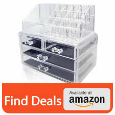 whole daily unique home acrylic jewelry and cosmetic storage makeup organizer set 3 piece
