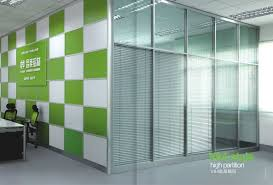 partition wall office. Office Dividing Walls. 5mm / 12mm Single Glass/wood Aluminum Profile Full Height V84 Partition Wall
