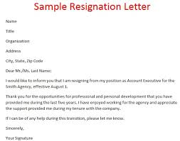resigning letter format samples resignation letter format template business