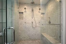 this frameless glass shower door showcases tile work photo courtesy of a plus
