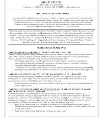 Payroll Administrator Resume Manager Sample Benefits Free Info Mesmerizing Payroll Resume