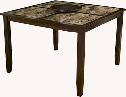 capitola espresso faux marble large pub table from alpine