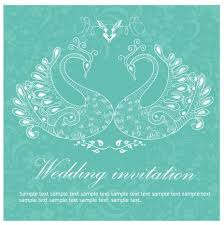 Wedding Invitation Background Blue Wedding Invitation Background Peacocks Vectors Stock In