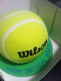 Tennis Ball Cake Decorations tennis themed cake Google Search Cakes and Cake Decorating 2