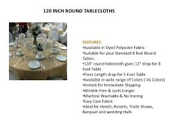 floor length tablecloth for 5 foot round table banquet and wedding halls inch round tablecloths centerpiece