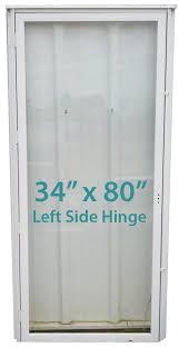 all glass storm door 34x80 lh