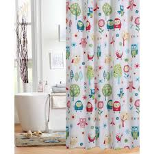 Neat Delightful Polyester Kids Shower Curtain Colorful Owl Me Ny In Tub  Time With Design Strong