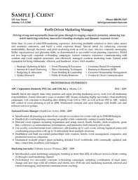 Sample Resume Sales And Marketing Unique Sales And Marketing Resume Sample Template Marketing Resume Examples