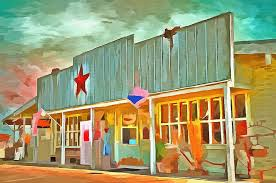old west town painting old west town by l wright