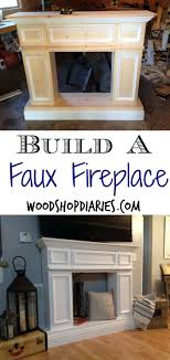 build your own faux fireplace with storage diy fake fireplace wood