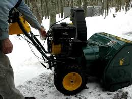 Snow blower engine start 13 HP Tecumseh - YouTube