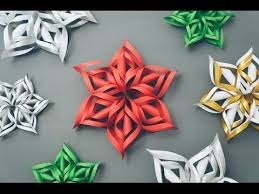 paper snowflakes 3d 3d paper snowflake tutorial youtube