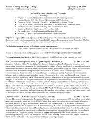 Sample Resume For Mechanical Maintenance Technician New Apartment