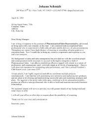 Cover Letter Medical Sales Pharmaceutical Sales Representative