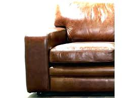 worn leather couch pair of 9 feet contemporary distressed brown leather sofas with oak feet how