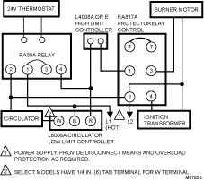 honeywell aquastat l4006a wiring diagram wiring diagram and aquastat settings best high low diff on a heating