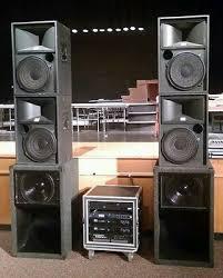 sound system for bar. pro sound system for dj, band or bar jbl speakers, 2450j drivers qsc \u0026