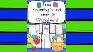 18 free Beginning Sounds B Worksheets with easy download