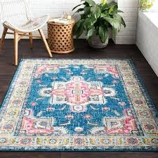 bungalow rose rugs sky blue bright pink area rug bungalow rose blue area rug