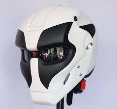 custom white black deadpool motorcycle helmet casco ebay