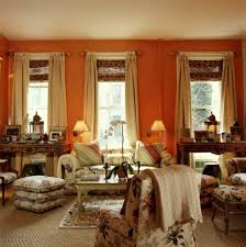 Orange Curtains For Living Room Curtain Ideas For Orange Walls Living Room Accent Colors Orange