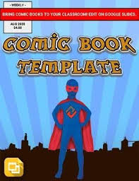 Google Slides Book Template Comic Book Template Editable In Google Slides Tpt