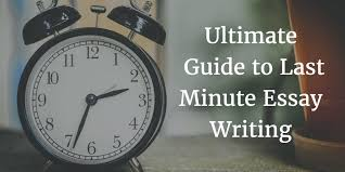 ultimate guide to last minute essay writing
