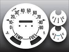 jeep cj gauges 1972 1975 jeep cj5 full numbers 90 mph dash instrument cluster white face gauges