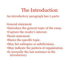 essay structure