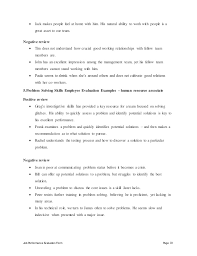 job performance evaluation human resource associate job description