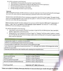 Example Summary Essay Please Write A Summary Responce Essay To The Artic