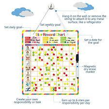 5 Day Reward Chart Blueprint Mart Chore Chart Behavior Chart Responsibility Chart Reward Chart Magnetic Reward System Accommodate Up To 3 Kids