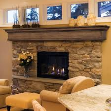 terrific ventless fireplace design feat polished wooden fireplace mantel with legs