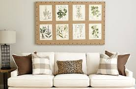 what to put on the blank wall over sofa