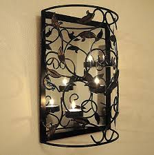 wall mounted metal candle holder with