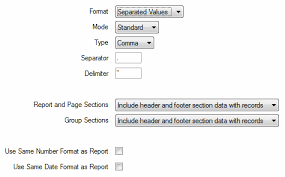 Crystal Reports Driver Guide - Export the Report in Separated Values ...