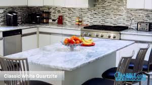 classic white quartzite kitchen countertops iv marble com