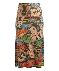 Comic Book Size Chart Look What I Found On Zulily Taupe Red Pop Art Maxi Skirt