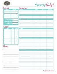 Free Budget Download Free Printable Household Budget Form Monthly Budget