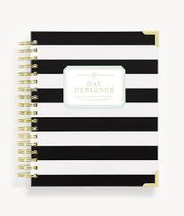 Day Designer Retailers January 2020 Daily Planner Black Stripe
