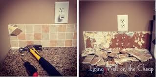 how to remove a tile backsplash